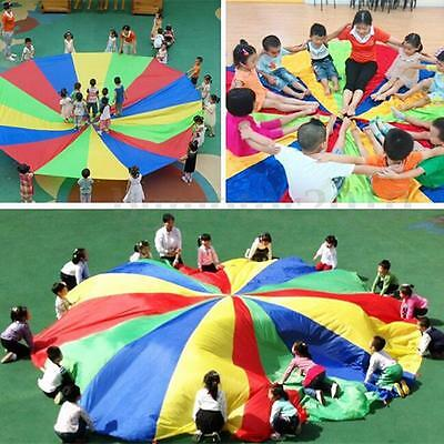 13FT 4M Kids Play Rainbow Parachute Outdoor Game Development Exercise Activity