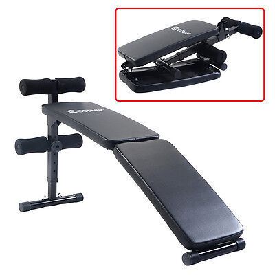 New Adjustable Folding Arc-shaped Sit Up Bench Gym Home Exercise Fitness Workout