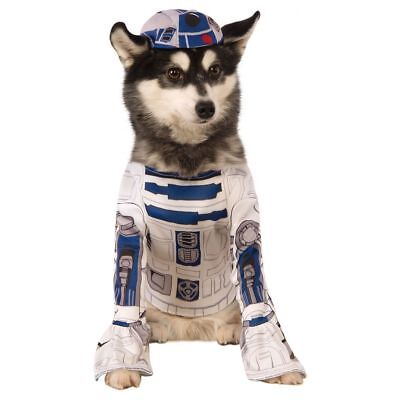 R2-D2 Dog Costume - LARGE - Shirt w/ attached Paw Covers, Hat - STAR WARS - NWT ()