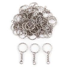 20/60/100 X Keyring Blanks Silver Tone Key Chains Findings Split Rings 4 Link