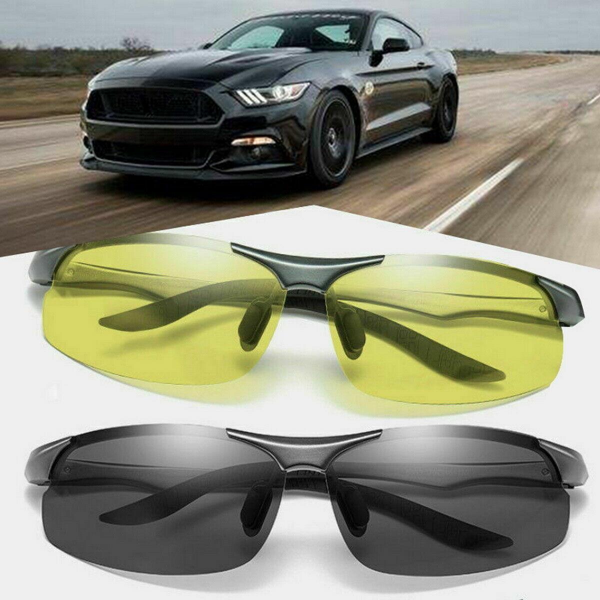 Nachtfahrbrille Nachtsichtbrille Auto Sonnenbrille Vision Kontrast-Brille KFZ UV