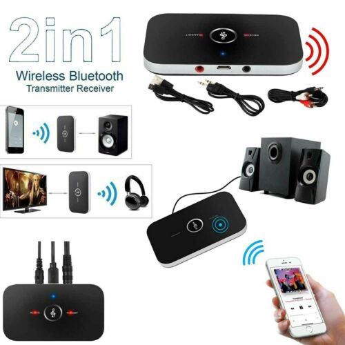 Bluetooth Transmitter & Receiver Wireless Adapter For Home stereos/speakers USA