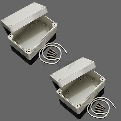 2pcs 4 X 2.6 X 2 Abs Plastic Electronics Enclosure Project Box Hobby Case