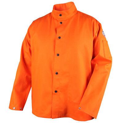 Revco Black Stallion 9 Oz Fr 30 Orange Cotton Welding Jacket Size Small