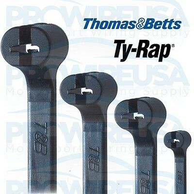 "THOMAS & BETTS TY RAPS TY25MX CABLE TIES 7.3"" STAINLESS LOCK 100 PC PACK"
