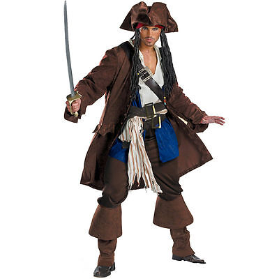Mens Pirates Of The Caribbean Captain Jack Sparrow - Captain Jack Sparrow Kostüm