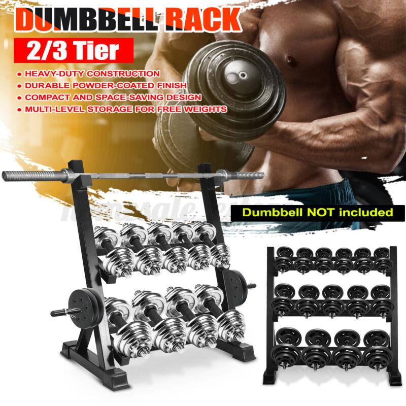 Weight Storage Dumbbell Metal Steel Rack Stand Home Workout Gym Holder Organizer
