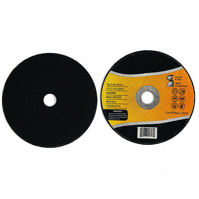 Cut-off Wheels 3 Inch X 116 X 38 Inch Pack Of 10 Cutting Disc Blade