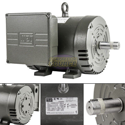 7.5 Hp Single Phase 3450 Rpm 184t Ingersoll Rand Replacement Compressor Motor