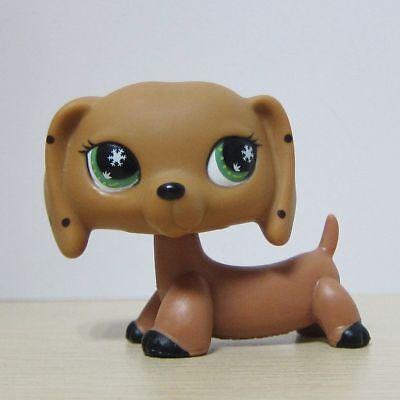 Littlest Pet Shop LPS Figure Toys Brown Daschund Dog T1