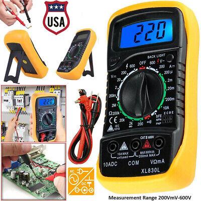 Xl-830l Digital Multimeter Lcd Acdc Voltmeter Ammeter Ohmmeter Tester Meter