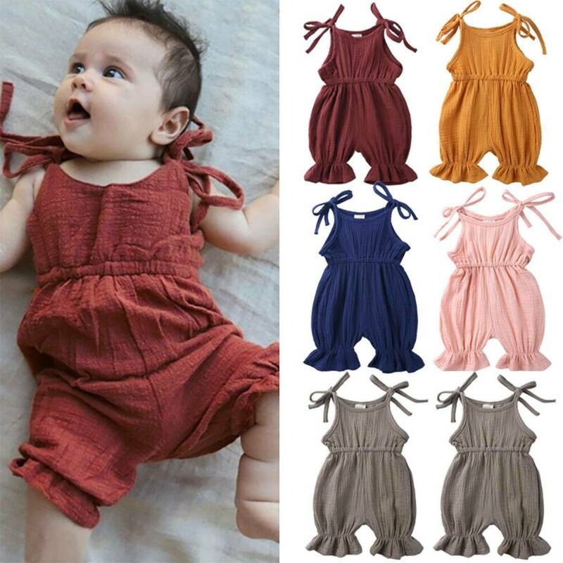 Toddler Infant Girl Casual Summer Romper Playsuit Jumpsuit Clothes