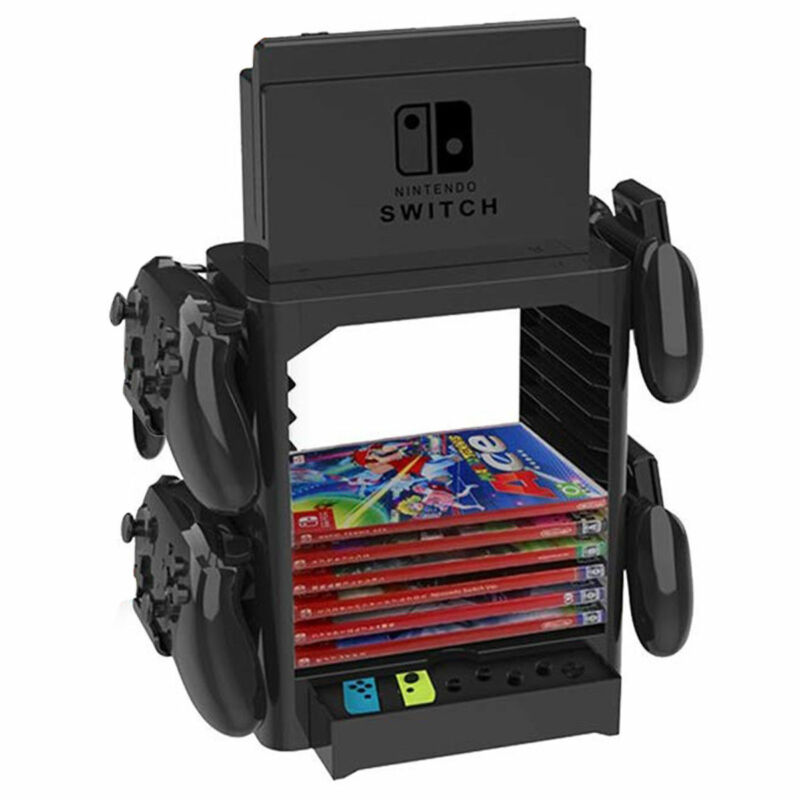 Game Card Storage Shelf Stand Gamepad Console Holder Bracket For Nintendo Switch