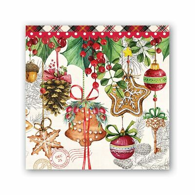 Michel Design Works 20 Triple-Ply Paper Cocktail Napkins Christmas Holiday Treat](Christmas Paper Products)