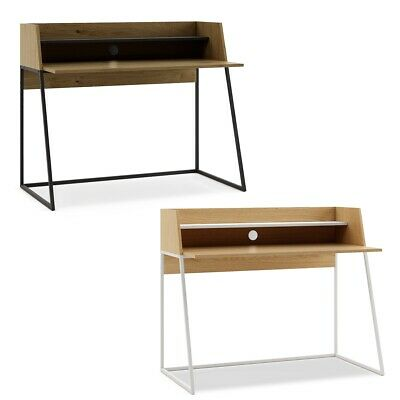 Mc Haus - Escritorio Oficina Despacho Kala madera y blanco o negro 120x62x89cm