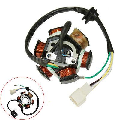6 Poles 5 Wires Half-Wave Ignition Magneto Stator For 50cc-125cc ATV Quad Bike