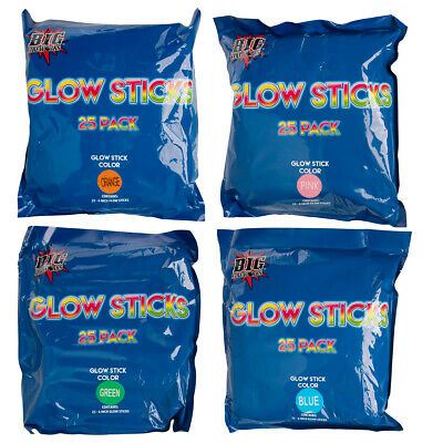 Orange Glow Sticks (100pk Assorted Glow Sticks Bulk Party Favors Emergency Kit Camping Fishing)