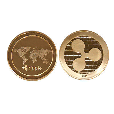 Gold Ripple Commemorative Round Collectors Coin Xrp Coin Is Gold Plated Coins