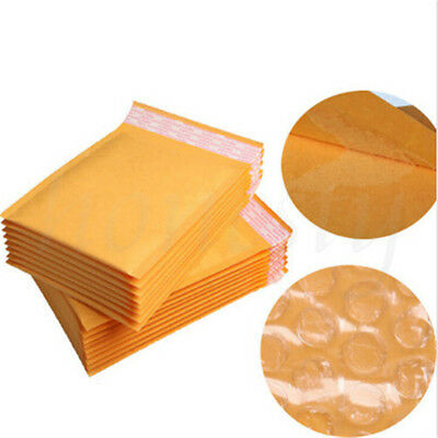 25pcs Yellow Kraft Bubble Mailers Padded Envelopes Shipping Bags Self Seal