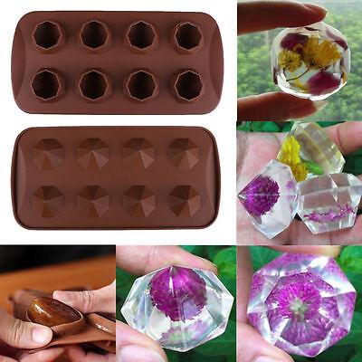 Gemstone Diamond Wedding Party 3D Silicone Soap mold Candy Chocolate Fondant Ice