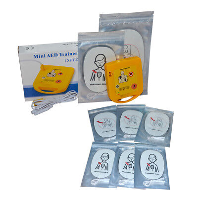 Mini Aed Trainer Emergency First Aid Training Automatic Device 6pairs Pads