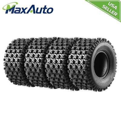 (4 20x10-9 ATV Tires for Yamaha Raptor Honda TRX250R TRX400EX TRX450ER)