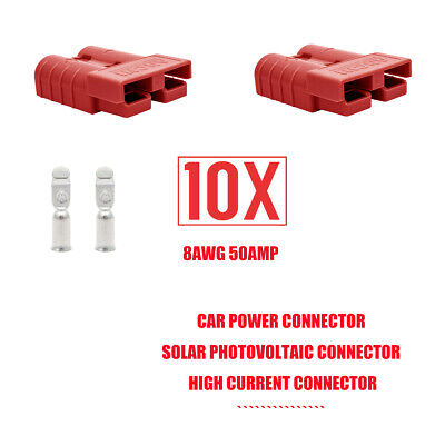 10pcs 600v 50amp Red Plug Connector Carvan Charger Battery With20contact