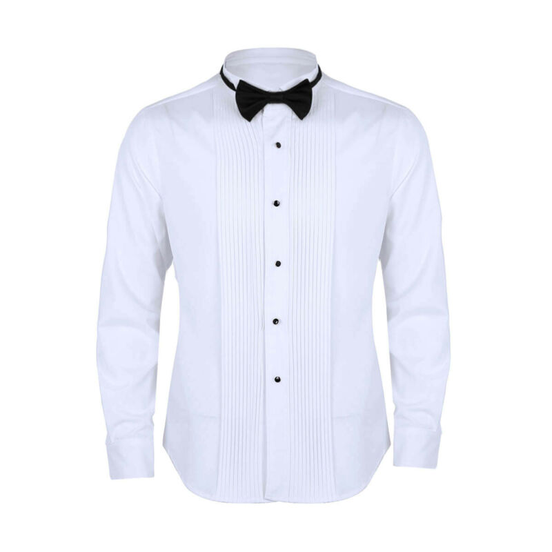 Details about French Cuff Mens Formal Business Dress Shirt Party Wedding Tuxedo Prom Shirts