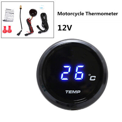 Digital Display Motorcycle Thermometer Instruments Water Temp Temperature Gauge