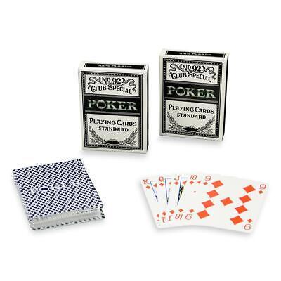 2 Poker-Kartendecks aus 100% Kunststoff Casino-Deck Spielkarten 54 Blatt je