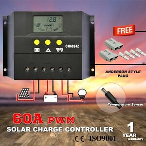 60A 12V-24V LCD DISPLAY PWM SOLAR PANEL REGULATOR CHARGE CONTROLL Hope Valley Tea Tree Gully Area Preview