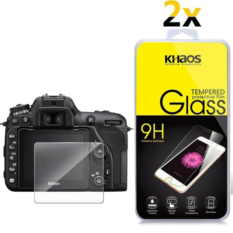 2-Pack Khaos For Nikon D7500 Tempered Glass Screen Protector