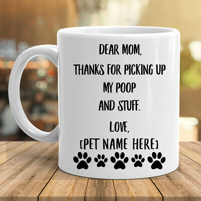 Personalized Mother Day Gifts (Personalized Mothers Day Gifts For Dog Mom Coffee Mug Custom Name White Cup)