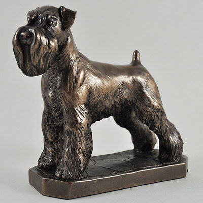 Schnauzer Bronze Statue Dog Sculpture Ornament Figure David Geenty NEW 06019