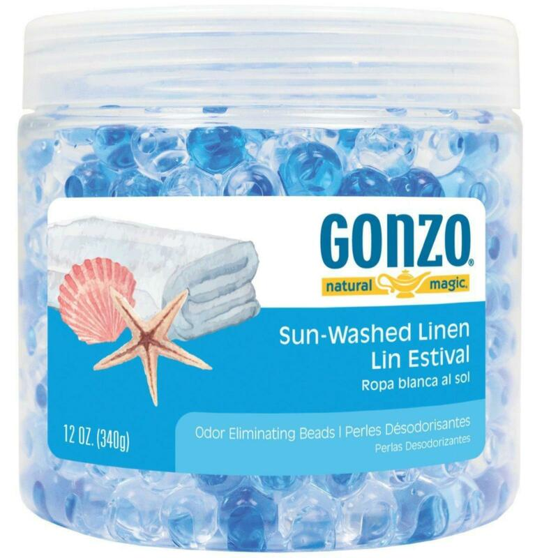 Gonzo Natural Magic Fragrance Beads - Odor Absorbing - 12 Ounce Sun Washed Linen