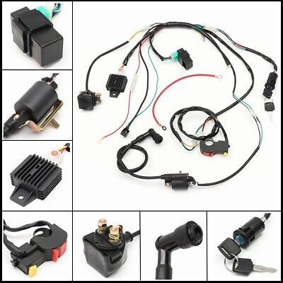 Solenoid Rectifier Coil CDI Wiring Harness Loom 50 110 125cc Quad Pit Dirt Bike