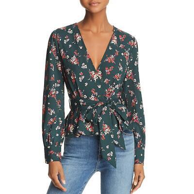 Kenneth Cole Womens Blue Faded 3//4 Sleeves Knit Blazer Jacket L BHFO 6498
