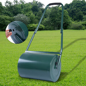 FDS HEAVY DUTY METAL 30L WATER / SAND FILLED GARDEN FOR GRASS / LAWN ROLLER