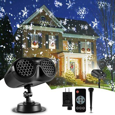 Christmas Projector Lights Outdoor, B-right 2-in-1 Rotating Snowfall Projection