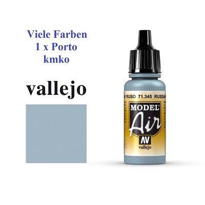 Vallejo Model Air MA 345, 71.345 Russ.AF Grey N.8, Russ.LW Grau Nr.8 17ml
