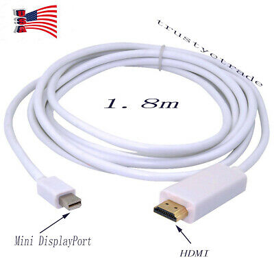 6ft Thunderbolt Port Mini DisplayPort to HDMI Adapter Cable For Macbook Air Pro