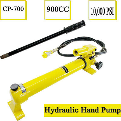 2 Speed Power Pack Hose Coupler Hydraulic Hand Pump 900cc 700 Bar 10000 Psi