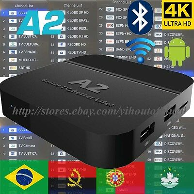2018 Newest A2 TV Box Thoroughly as HTV5 A1 Upgrade Brazilian live TV&Adult Movies 4K