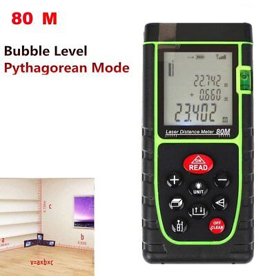 80m Handheld Digital Laser Point Distance Meter Tape Range Finder Measure 262ft