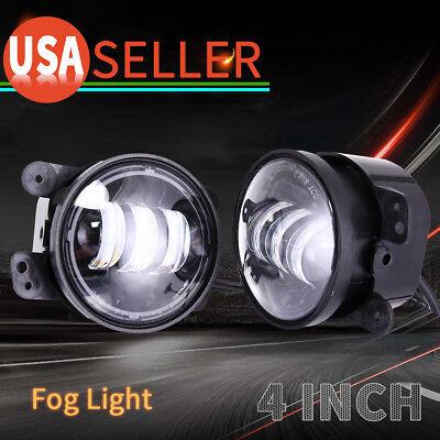 4 Fog Lights (Pair 4Inch 30W LED Fog Lights Driving Lamps 97-17 for Jeep Wrangler JK TJ)
