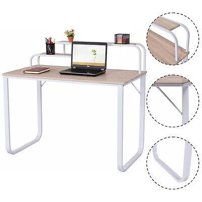 Computer Desk W2-tier Shelves Home Office Furniture Laptop Writing Study Desk
