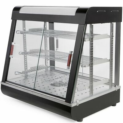 3 Tier Commercial Food Pizza Warmer Cabinet Countertop Heated Display Case
