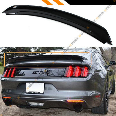 For 2015-19 Ford Mustang Track Pack Style Painted Gloss Black Trunk Spoiler Wing](Lids Tracking)