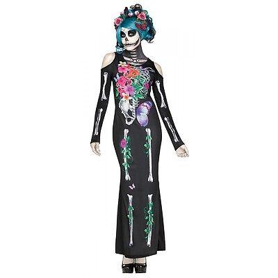 Day of The Dead Costume Dia de Los Muertos Sugar Skull Halloween Fancy Dress