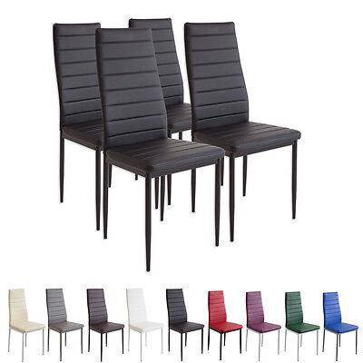4 x Esszimmerstühle MILANO - schwarz - Esszimmerstuhl Küchenstuhl Stuhl Stühle (Esszimmer Stuhl, Moderne)